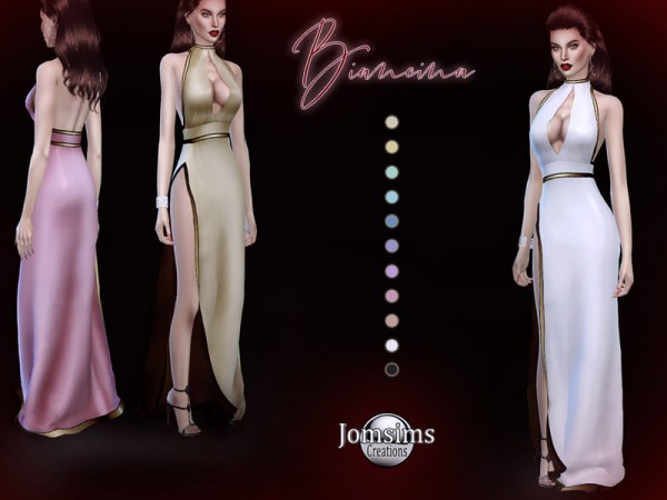 The Sims Resource: Biancina dress by Jomsims
