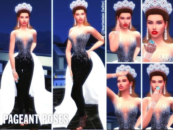 The Sims Resource: Pageant Poses by Sims4LifeStories