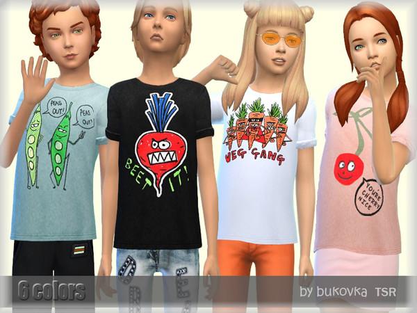 The Sims Resource: Vegan T Shirt by bukovka