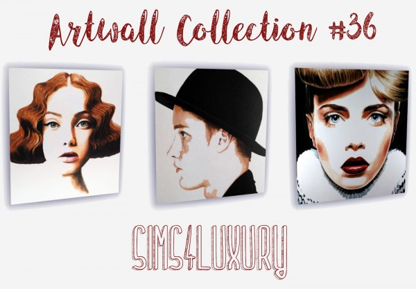 Sims4Luxury: Artwall Collection 36