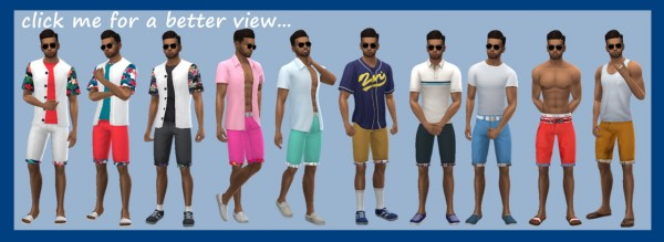 Sims 4 Sue: Rolled Shorts