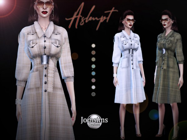 The Sims Resource: Aslenpt dress by jomsims