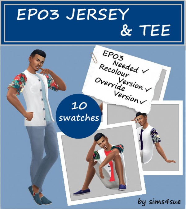 Sims 4 Sue: Jersey and tee top