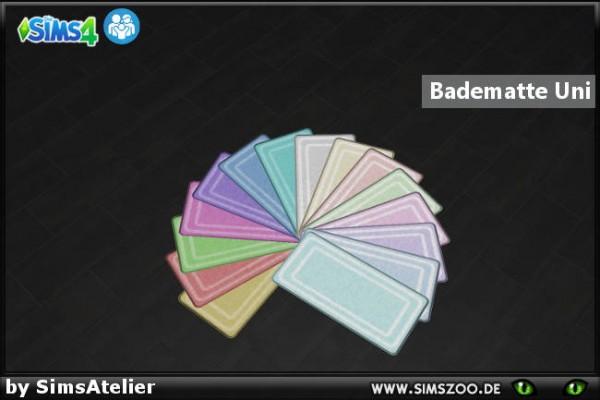 Blackys Sims 4 Zoo: Bathmat uni by SimsAtelier