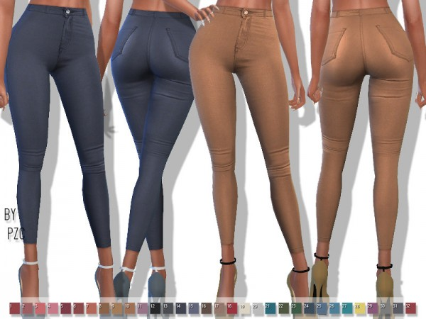 The Sims Resource: Leather Pants by Pinkzombiecupcakes
