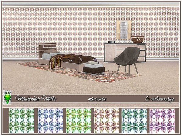 The Sims Resource: Maidenhair Walls by marcorse