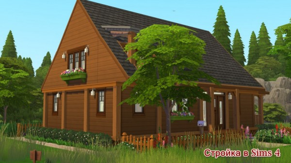 Sims 3 by Mulena: Wooden house