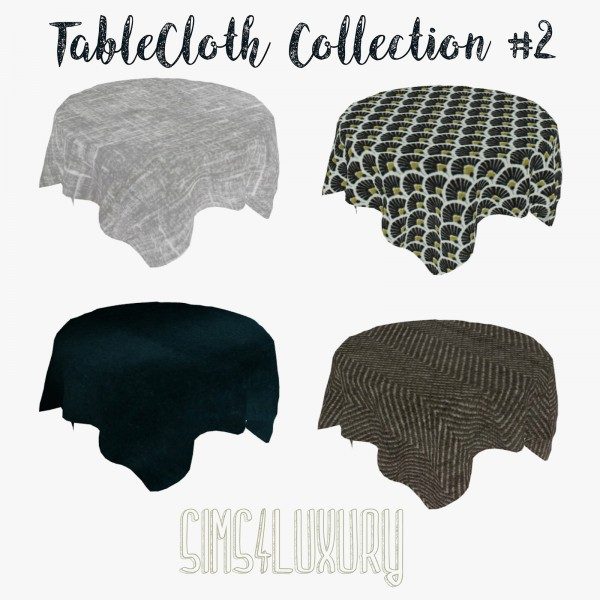 Sims4Luxury: Table Cloth Collection 2