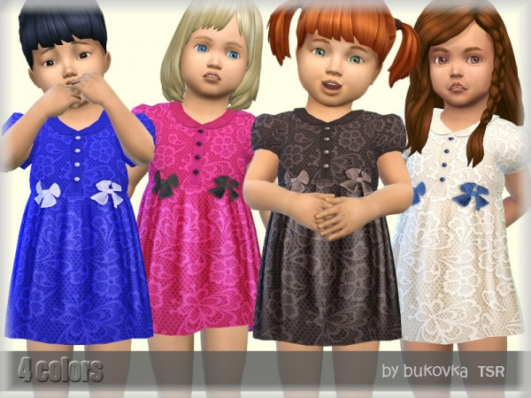 The Sims Resource: Short Dress Lace by bukovka