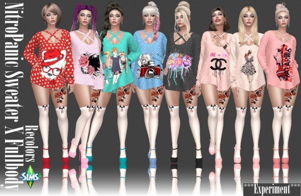 Annett`s Sims 4 Welt: NitroPanic`s Sweater X Fullbody Recolors