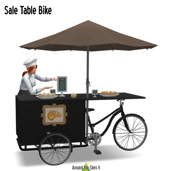 Around The Sims 4: Sale stand on bike