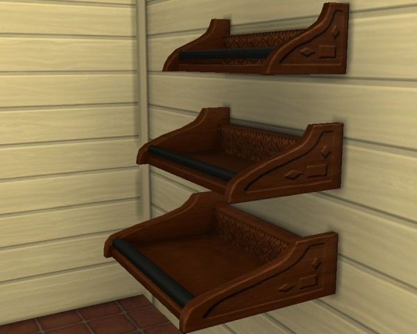Mod The Sims: Reznoye shelves recolour by Victor tor