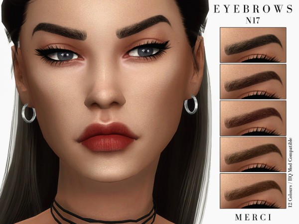 The Sims Resource: Eyebrows N17 by Merci
