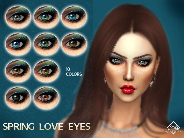 The Sims Resource: Spring Love Eyes by Devirose