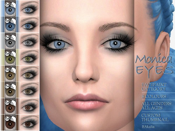The Sims Resource: Monica eyes by BAkalia