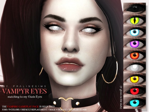 The Sims Resource: Vampyr Eyes N160 by Pralinesims
