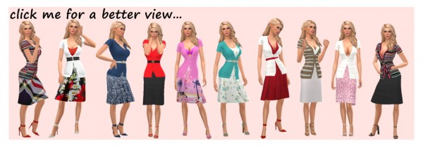 Sims 4 Sue: Cardigan and Skirt Outfit