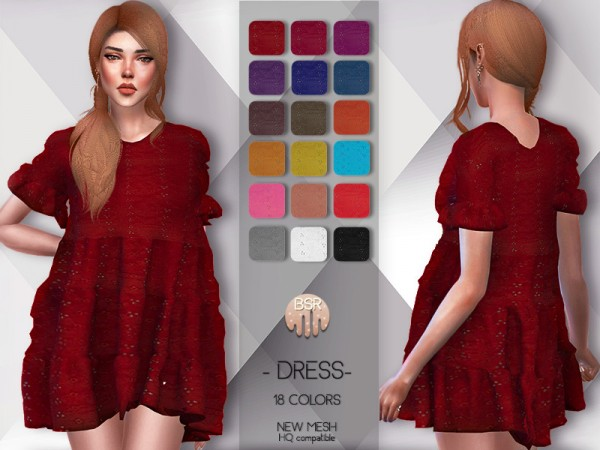The Sims Resource: Dress BD57 by busra tr