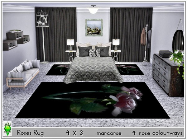 The Sims Resource: Roses Rug by marcorse