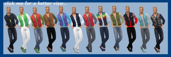 Sims 4 Sue: Padded Vest and Pants