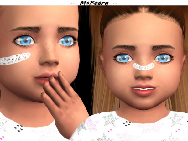 The Sims Resource: Toddlers Bandaids by MsBeary