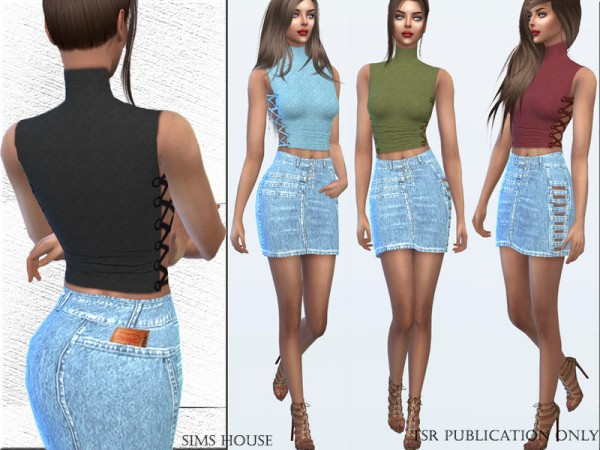 The Sims Resource: Top with lacing on the sides by Sims House