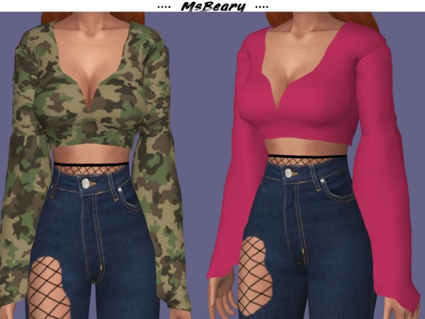 The Sims Resource: Long Puffy Sleeve Shirt by MsBeary