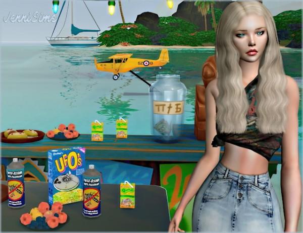 Jenni Sims: Light aircraft, juice, cereals, fruits