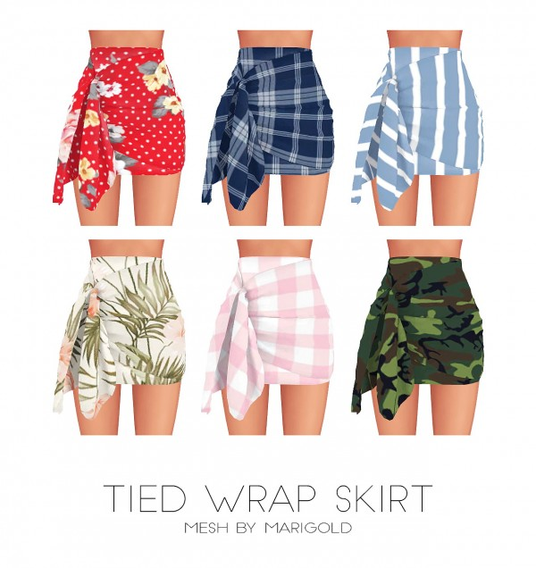 Kenzar Sims: Tied wrap skirt