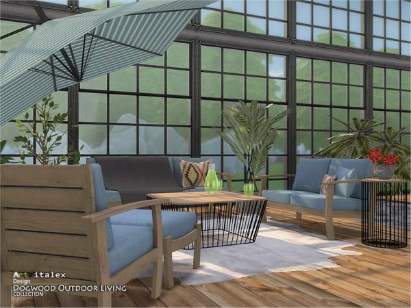 The Sims Resource: Dogwood Outdoor Livingroom by ArtVitalex