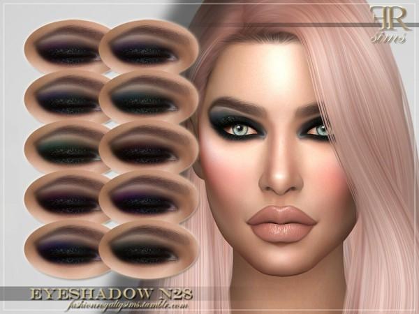 The Sims Resource: Eyeshadow N28 by FashionRoyaltySims