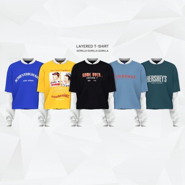 Gorilla: Layered T Shirt