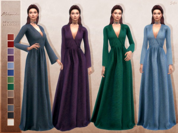 The Sims Resource: Melisandre dress by Sifix