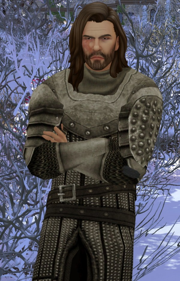 Mod The Sims: Game of Thrones The Hound Sandor Clegane outfit by HIM666