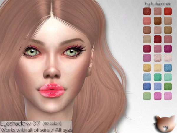 The Sims Resource: Eyeshadow 07 by turksimmer