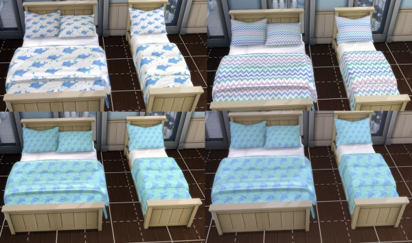 Mod The Sims: Sulani Inspired Bedding Sets by Foxybaby