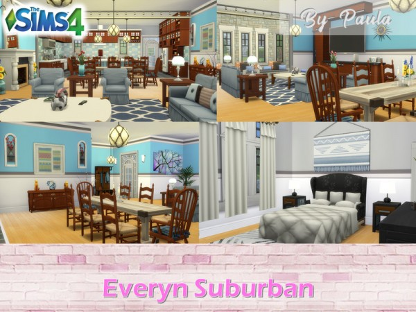 The Sims Resource: Everyn Suburban House by PaulaBATS