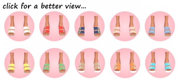 Sims 4 Sue: Buckled sandals