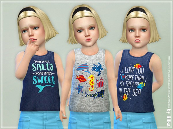 The Sims Resource: Girl Tank Top 01 by lillka