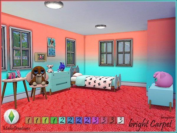 The Sims Resource: Carpet Bright by MahoCreations
