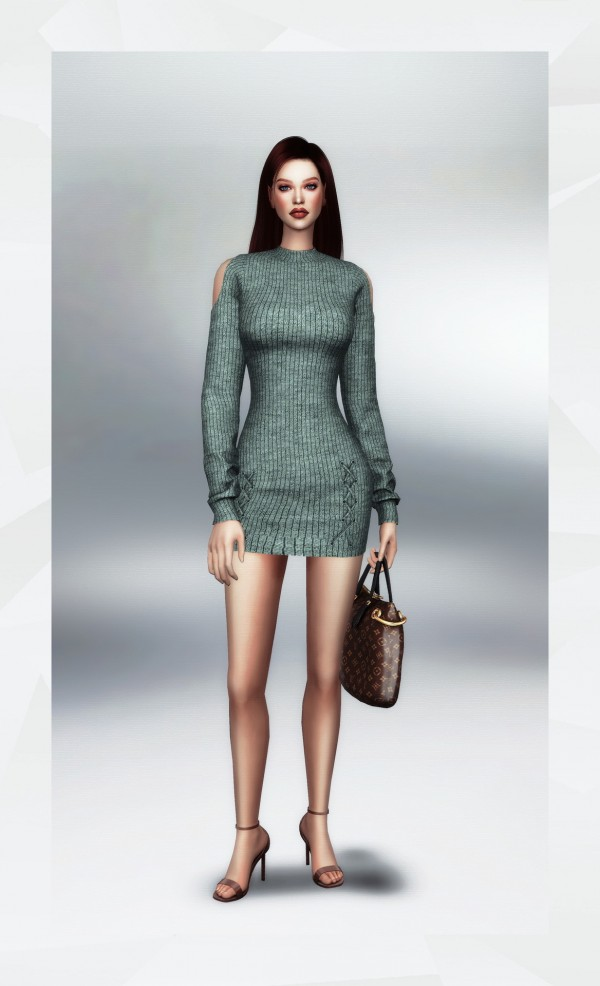 Gorilla: Cut Out Shoulder Sweater Dress
