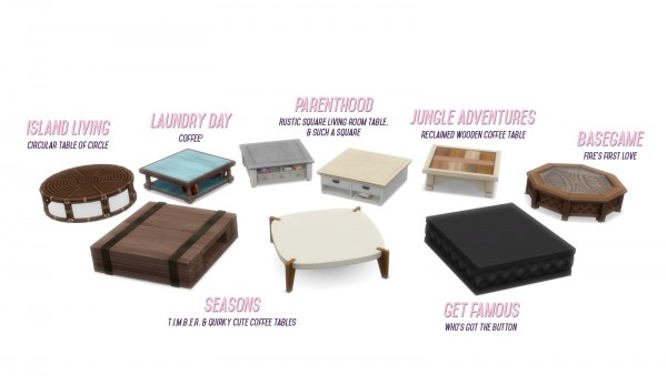 Simsational designs: Shrunken Square Coffee Tables