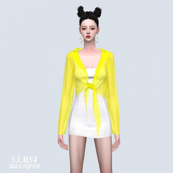 SIMS4 Marigold: See Through Shirt With Mini Dress