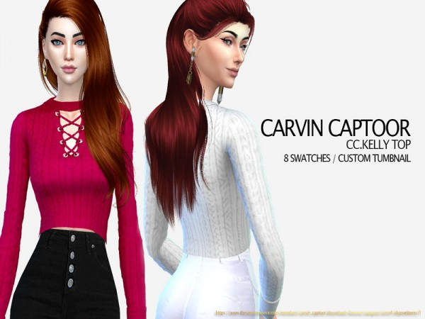 The Sims Resource: Kelly top by carvin captoor