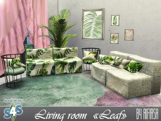 Aifirsa Sims: Furniture and decor for the living room
