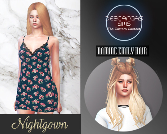 Descargas Sims: Nightgown