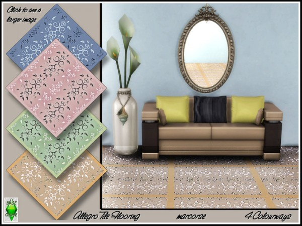 The Sims Resource: Allegro Tile Flooring by marcorse