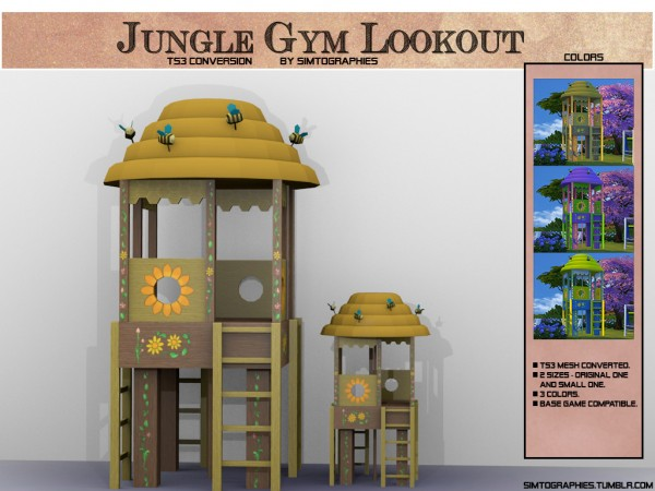 Simtographies: Jungle Gym Lookout and Pose Pack