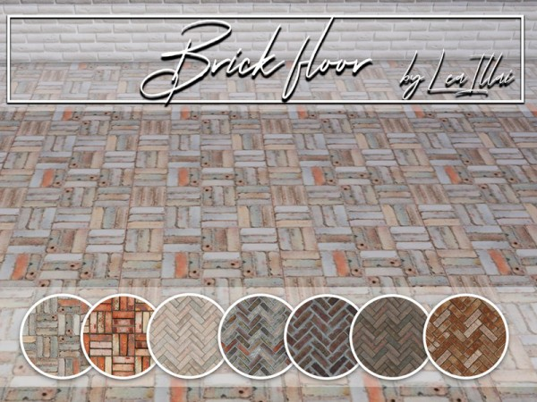 The Sims Resource: Brick floor by LeaIllai