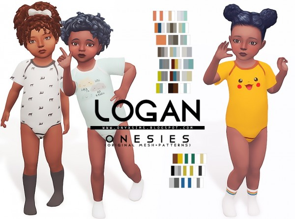 Onyx Sims: Logan Onesies